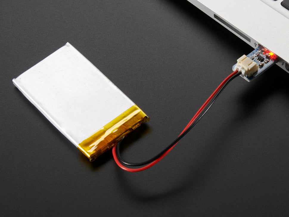 Adafruit Micro Lipo Attached
