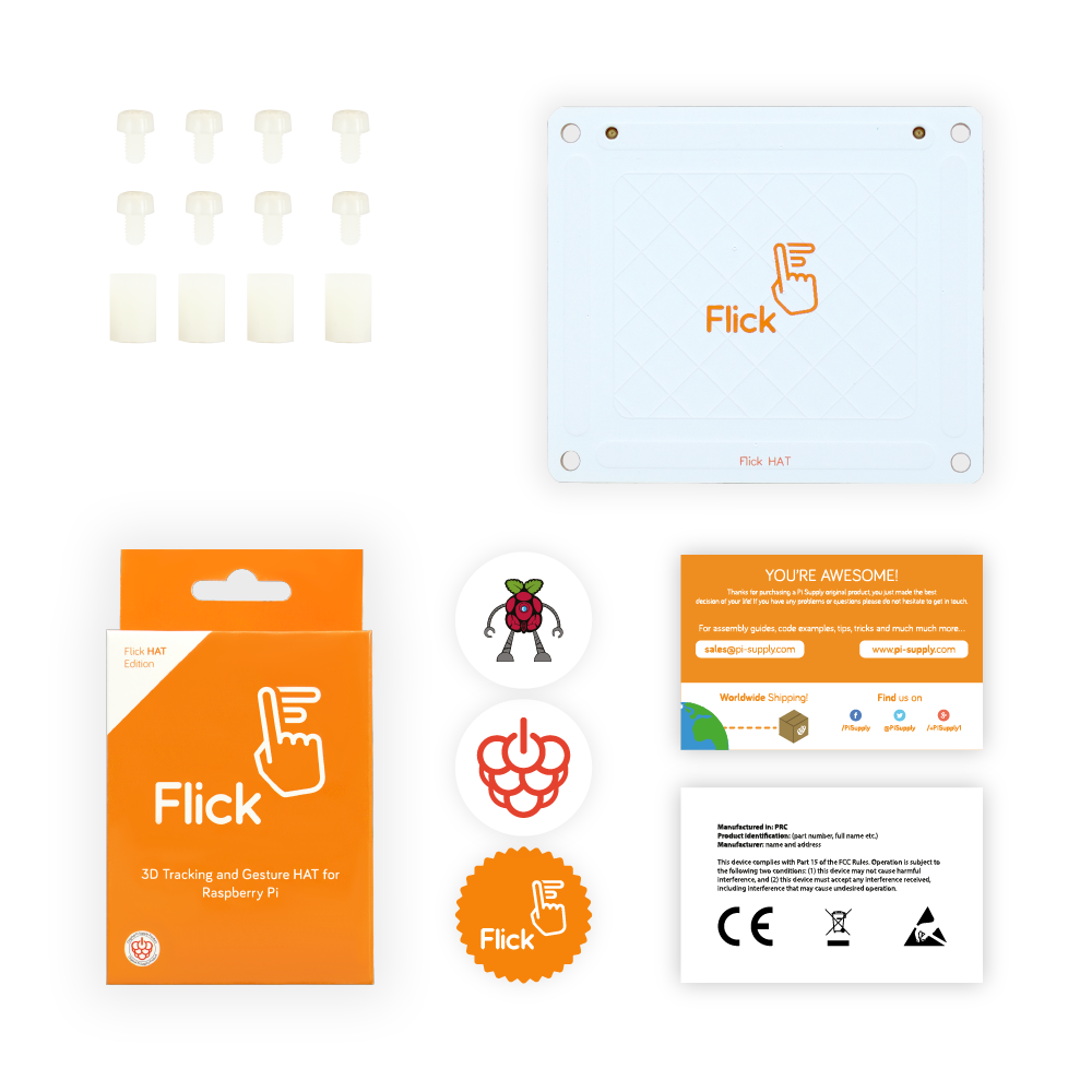 Flick HAT - Kit Contents