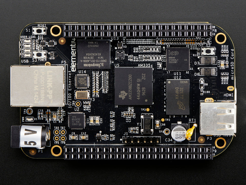 BeagleBone Black Rev C Top
