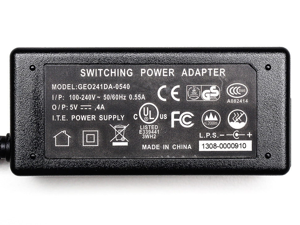 5V 4A (4000mA) Switching Power Supply Spec