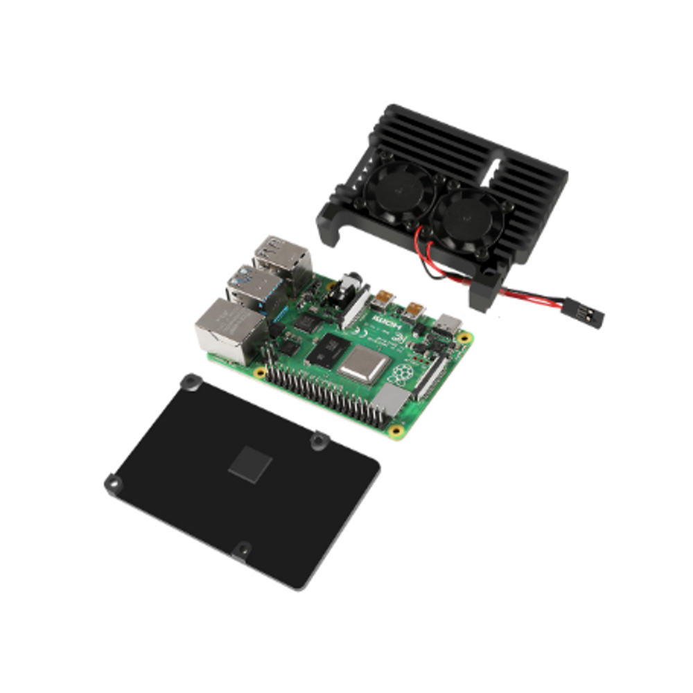 Aluminium Heatsink Case for Raspberry Pi 4 with Fans