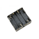 black plastic battery holder for Raspberry Pi