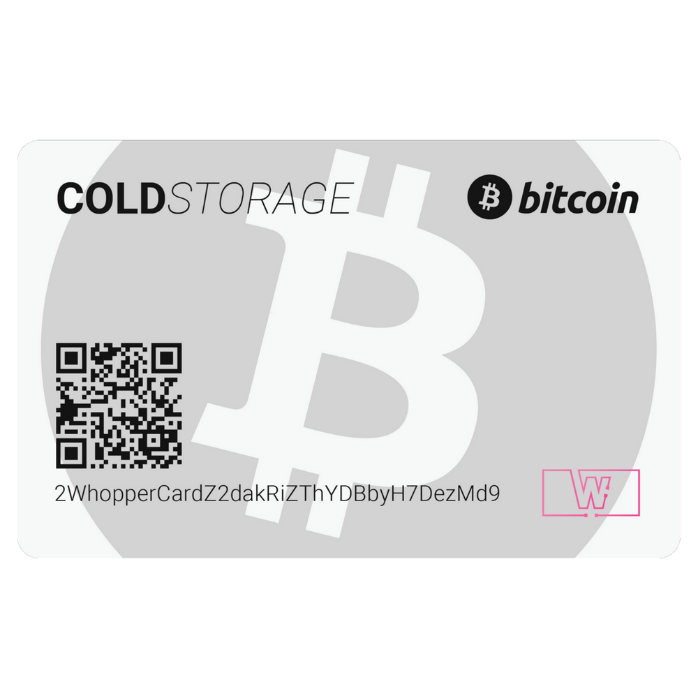 Bitcoin Cold Storage Card (White)