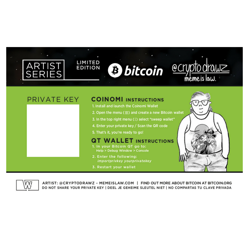 Bitcoin Limited Edition (Pepe Con Air Cage) by Cryptodrawz