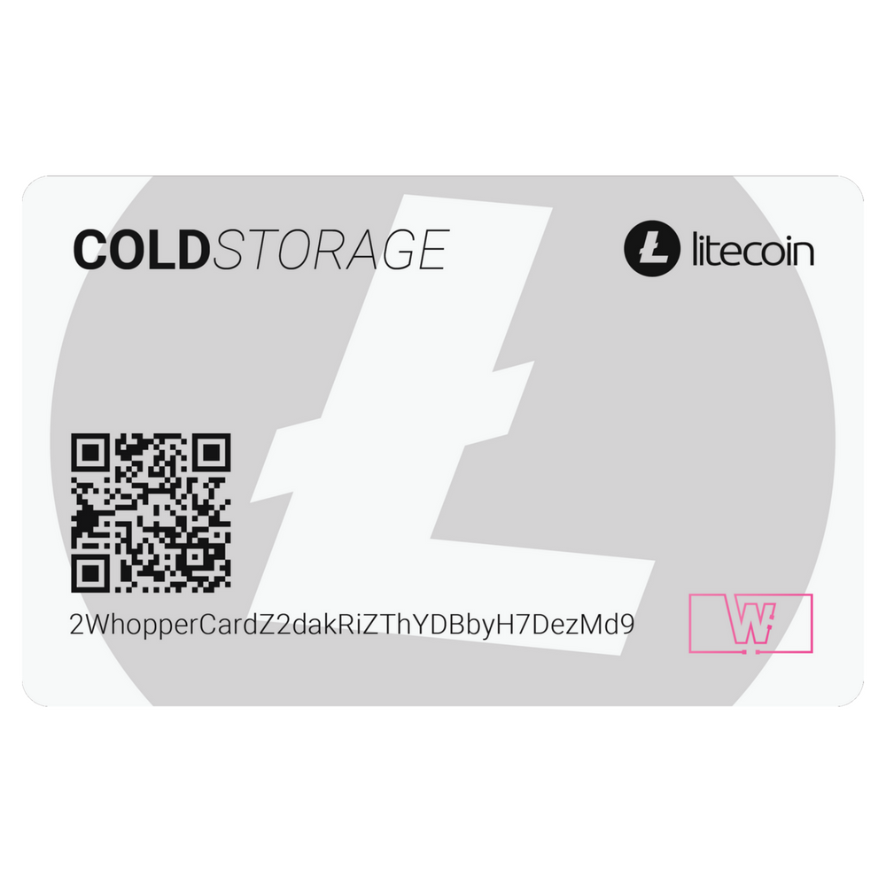 Litecoin Cold Storage Card (White)