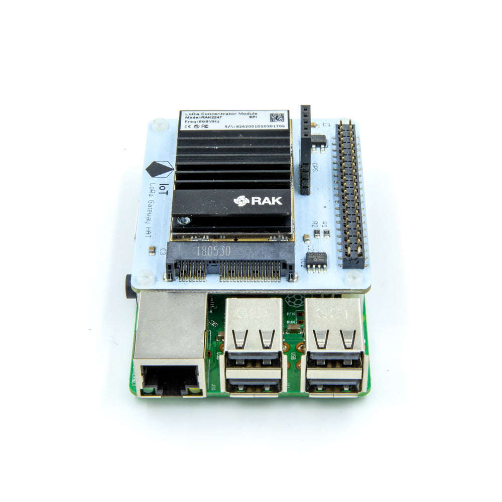 IoT LoRa Gateway HAT for Raspberry Pi (868MHz/915MHz)