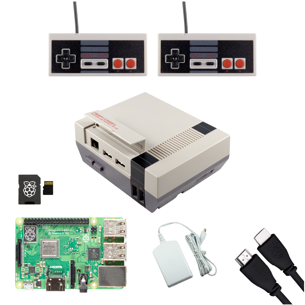 Ultimate NESPi Raspberry Pi Gaming Bundle with NES Gamepads