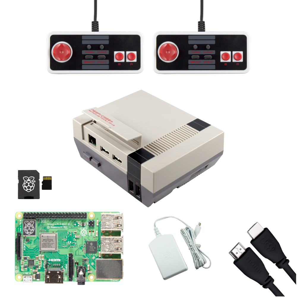 Ultimate NESPi Raspberry Pi Gaming Bundle with NES Classic USB Gamepads