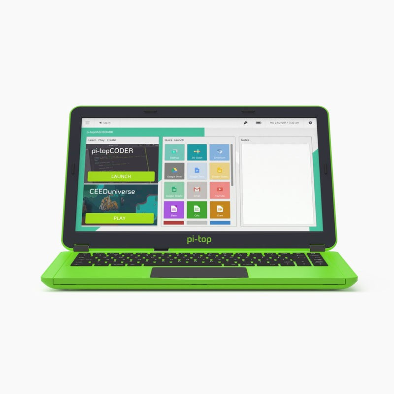 Pi-Top V2 - Raspberry Pi Laptop - Green
