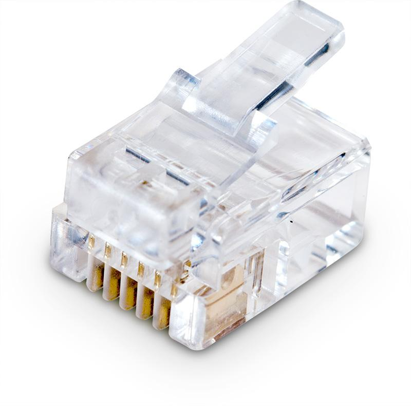 Pi Supply RJ12 Plug for Round Cable