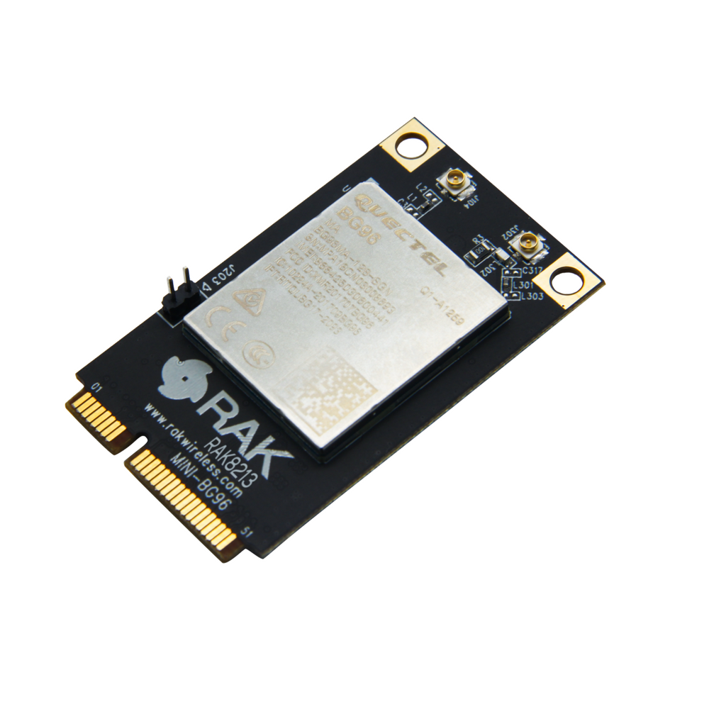 RAK8213 mPCIe cellular IoT module (BG96 based ) with GNSS, NB-IoT, USB2.0 CatM1&NB1 and EGPRS