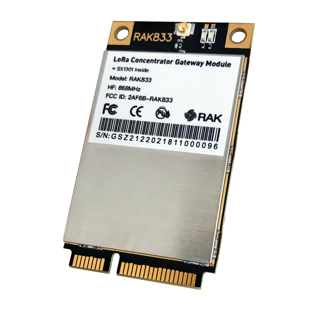 RAK833 SPI and USB LoRa Gateway Concentrator mPCIe Module (based on SX1301 and FT2232H)
