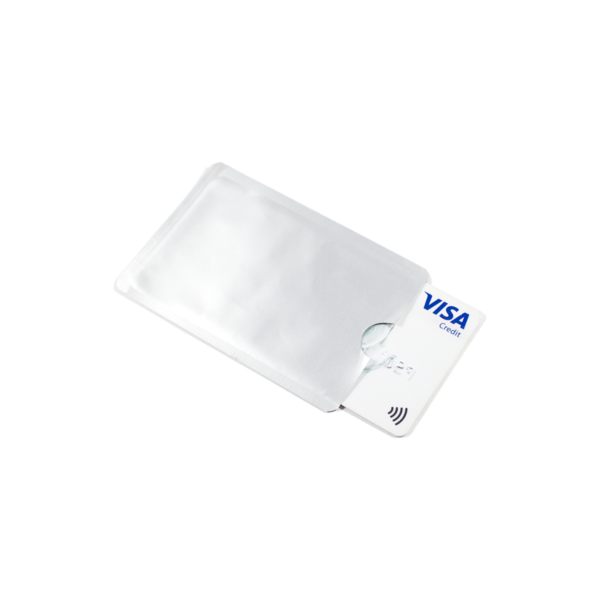 Grey RFID Secure Sleeve Credit Card Holder