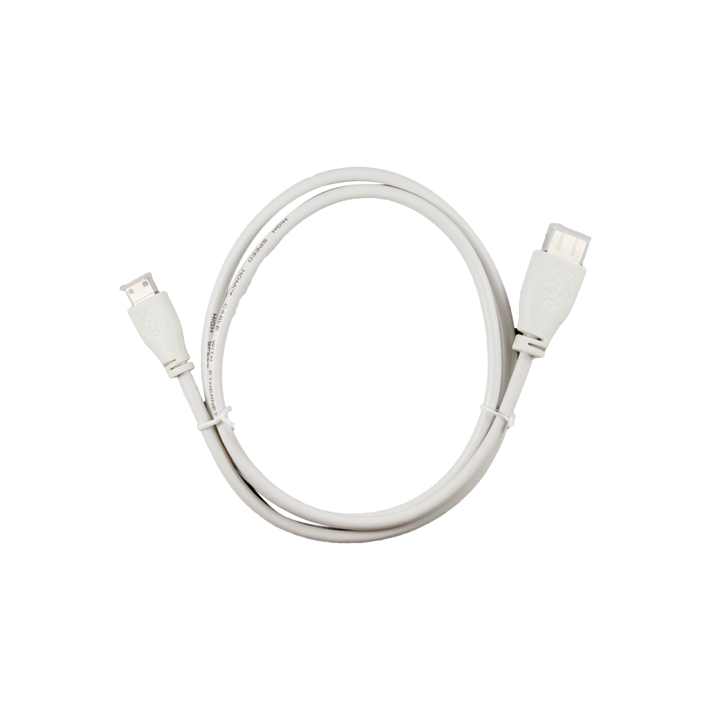 Official Raspberry Pi Mini HDMI Cable in White