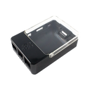 Raspberry Pi B+/2/3 HAT Case - Black & Clear