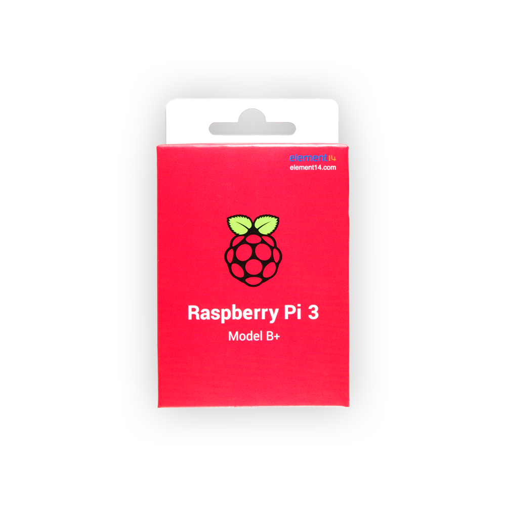 Raspberry Pi 3 Model B+ Red Packaging