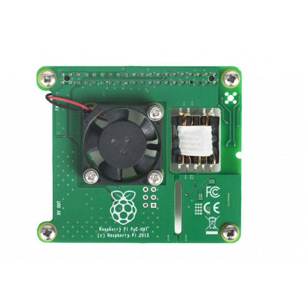 Official Raspberry Pi Power over Ethernet (PoE) HAT for Raspberry Pi 3 Model B+