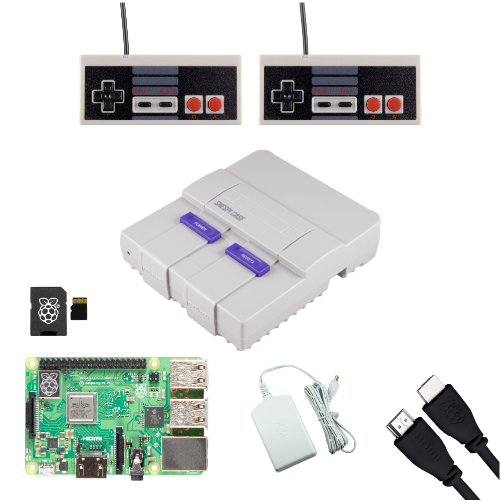 SNESPi Raspberry Pi Gaming Bundle with NES Gamepads