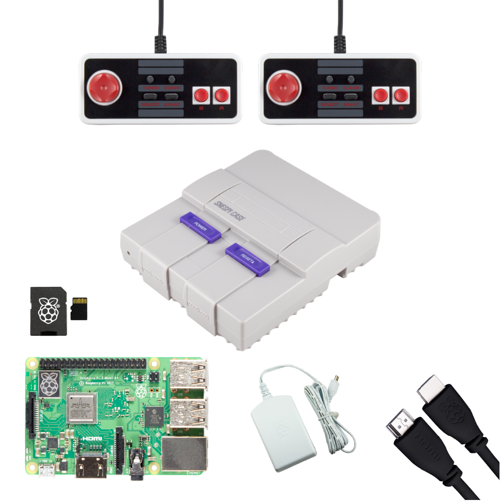 SNESPi Raspberry Pi Gaming Bundle with NES Classic USB Gamepads