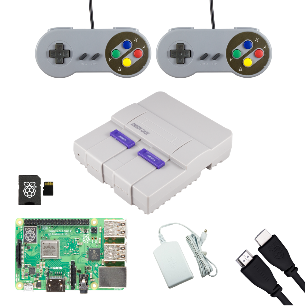 SNESPi Raspberry Pi Gaming Bundle with Retro Gamepads