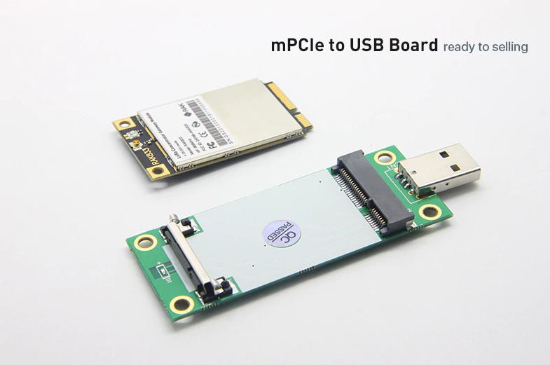 mPCIe to USB adapter board