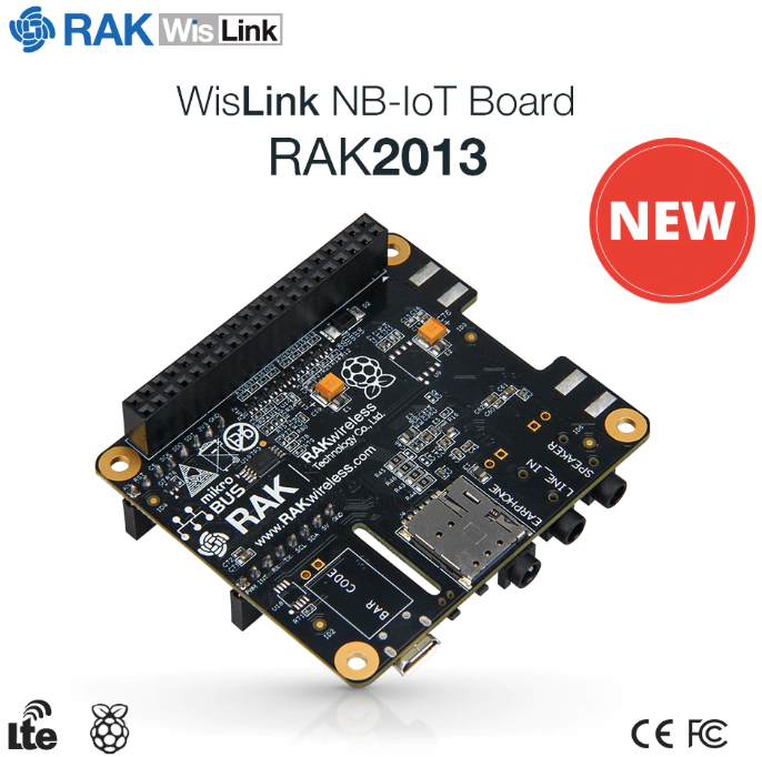 RAKwireless RAK2013 Cellular Raspberry Pi HAT