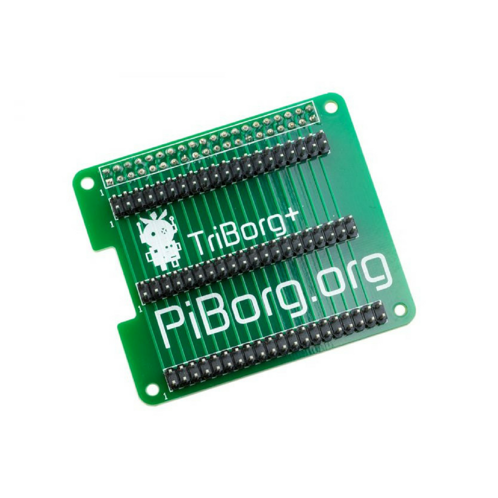 TriBorg Plus - Raspberry Pi 40 Pin GPIO Triplicator (Soldered)