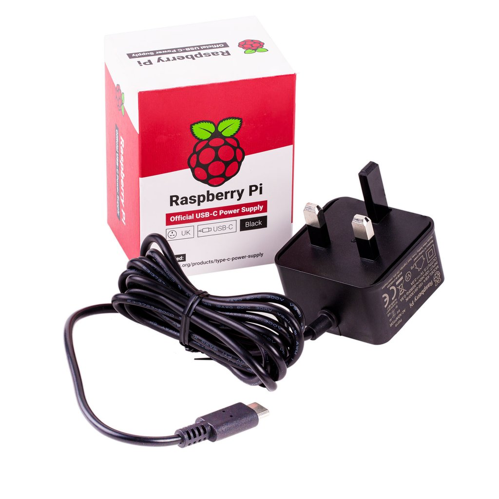 Official UK Raspberry Pi 4 Power Supply (5.1V 3A)