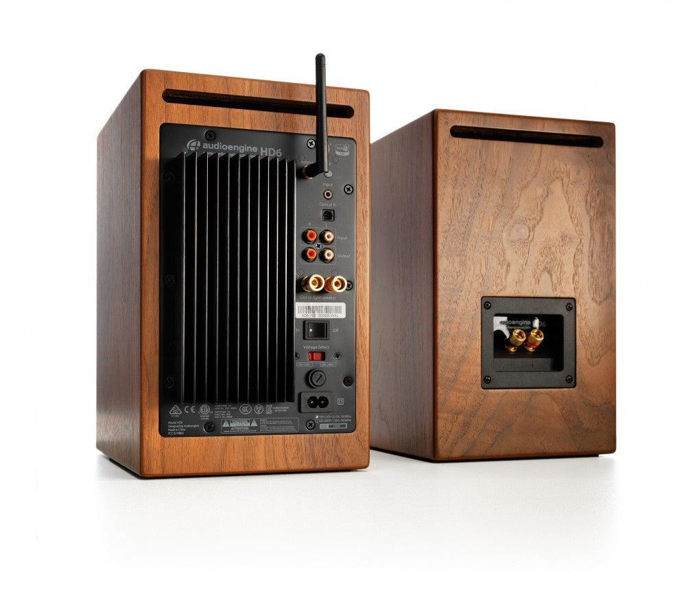 Audioengine HD6 Powered Speakers - Walnut rear