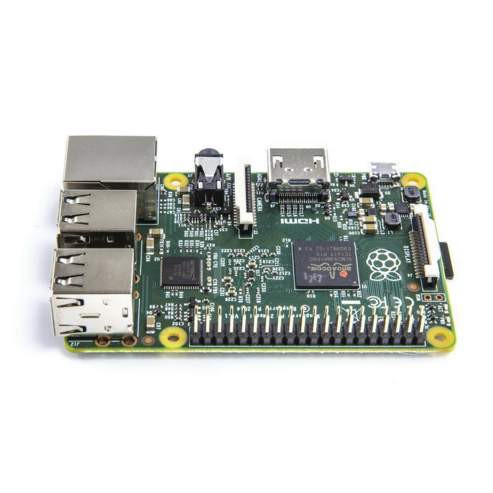 Raspberry Pi 2 Model B - side angle