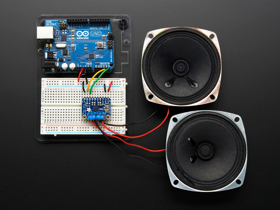 Adafruit Stereo 2.8W Class D Audio Amp w/Speakers (not included)