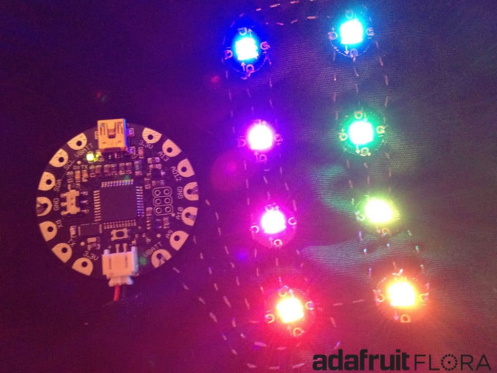Adafruit FLORA with NeoPixels