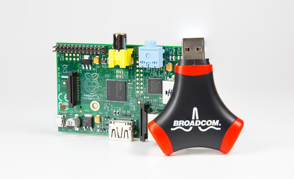 Broadcom WiFi Adapter and USB Hub with Raspberry P