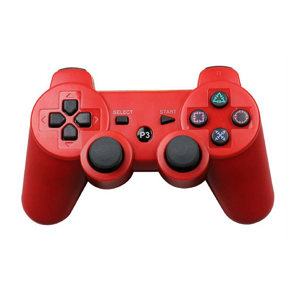 Bluetooth Game Console Controller For Playstation and Raspberry Pi - Red