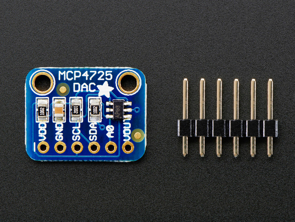 Adafruit 12-Bit DAC Interface (Top View)