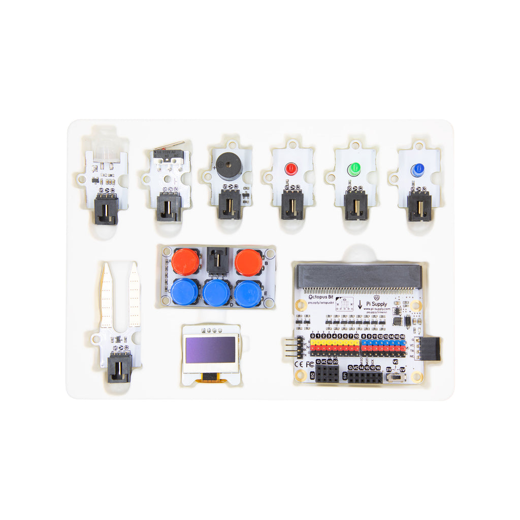 Pi Supply micro:bit Tinker Kit (without micro:bit) - For STEM Learning & Programming