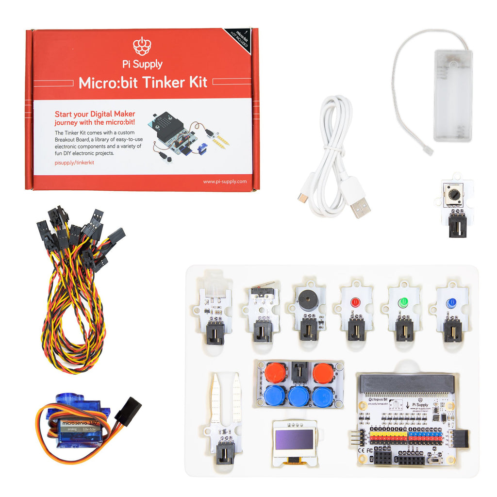 Pi Supply micro:bit Tinker Kit (without micro:bit)