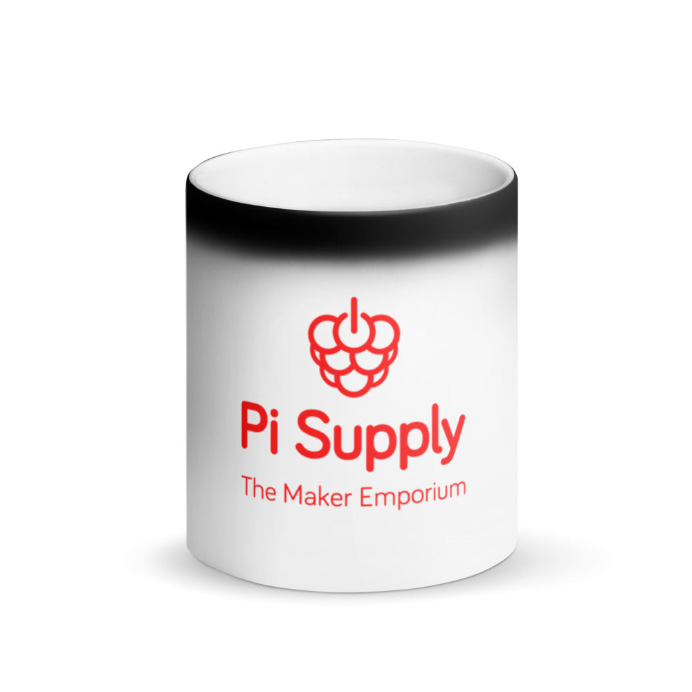 Pi Supply Matte Black Magic Mug