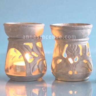 Incense Burners - Stone Oil Burner - 1pc