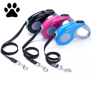 ABS Walking Running Automatic Retractable Dog Leash For Cat Easy Gripping 3M 5M Pulling Dog Lead Leash for Small Medium Dogs
