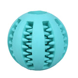 Dog Toy Rubber Balls Pet Dog Cat Puppy Chew Toys Ball Chew Toys Tooth Cleaning Balls Food Light Blue