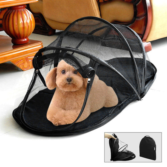 Protable Dog Bed Mesh Dogs Folding Mat House Camping Tent Waterproof Cat Pet Fence Puppy Kennle For Outfoor Indoor Playing