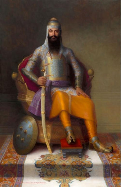 Commission a Hand Painted Oil Painting of Yourself as a Maharaja! Gift!