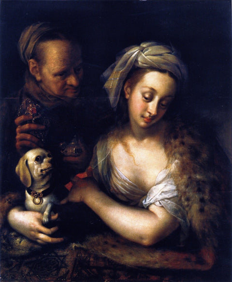 A Courtesan with Her Procuress