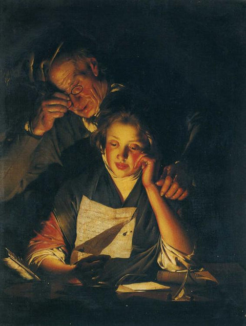 A Girl reading a Letter, with an Old Man reading over her shoulder