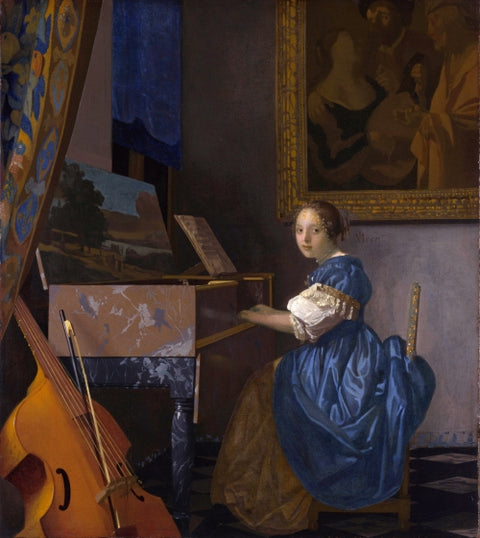 A Lady Seated at a Virginal