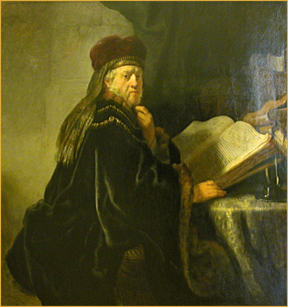 A Scholar Seated at a Table with Books