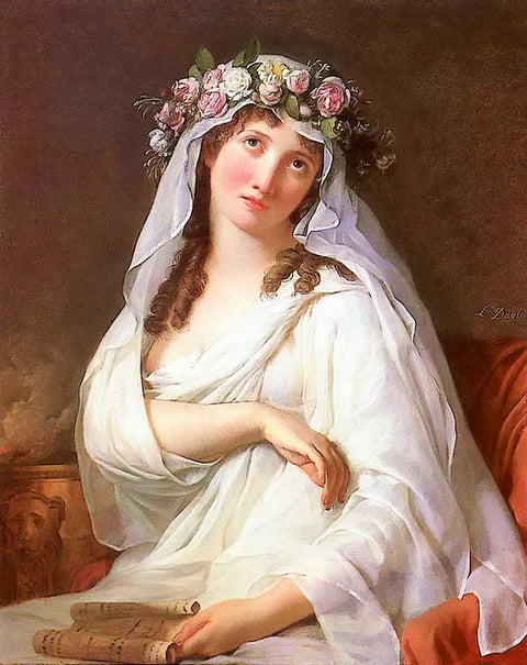 A Vestal Virgin Crowned With Flowers