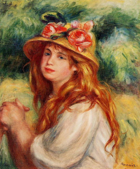Blond in a Straw Hat(Seated Girl)