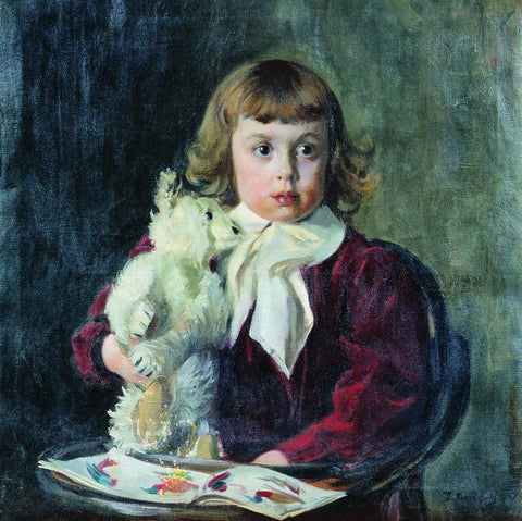 Boy with teddy bear